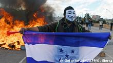 Honduras | Tränengaseinsatz gegen Demonstranten in Honduras