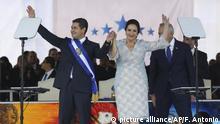 Honduras Präsident Juan Orlando Hernandez und seine Frau Ana Garcia