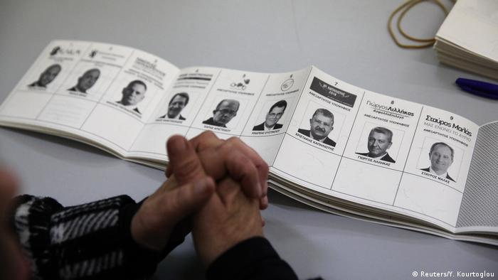 Ballot paper for presidential elections in Cyprus (Reuters/Y. Kourtoglou)