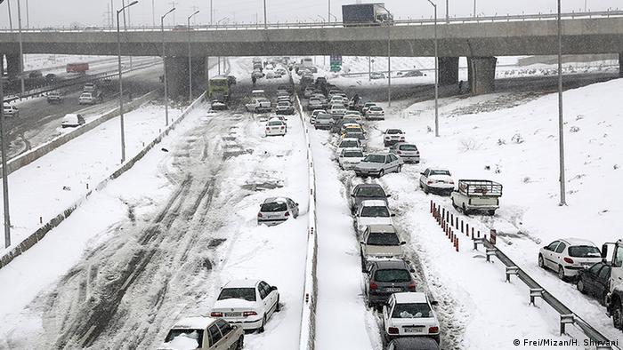 Iran Schnee in Tehran