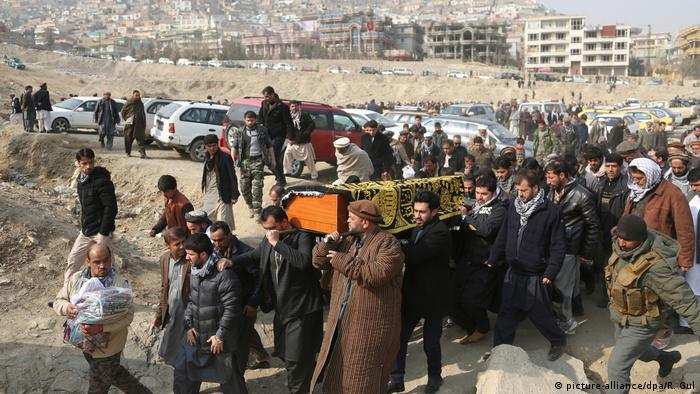 Mourners in Kabul