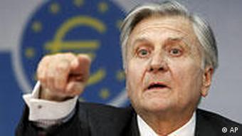 Deutschland EZB Jean-Claude Trichet zu Zinssenkung