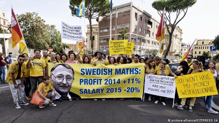 Anti-IKEA protestors in Rome