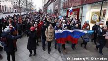 Russland | Demonstrationen von Navalny-Anhängern in Moskau