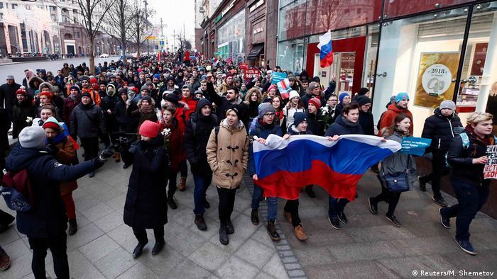 Moskwa: demonstracja zwolenników Nawalnego