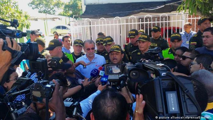 Bombenanschlag auf Polizeiwache in Kolumbien (picture alliance/colprensa/Externos)