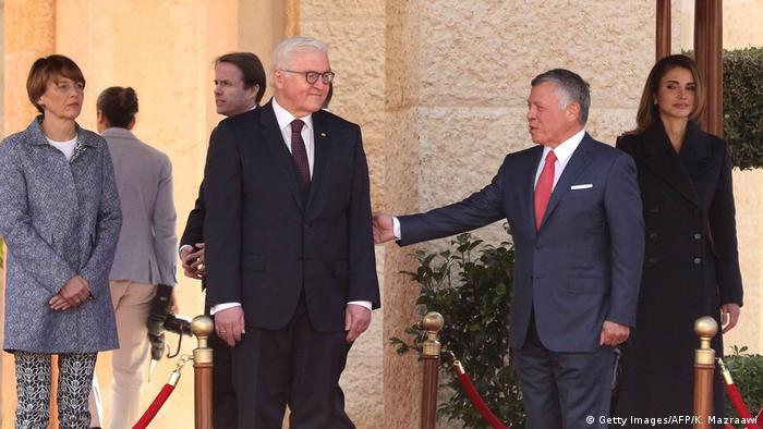 دیدار رئیسجمهور آلمان با پادشاه اردن