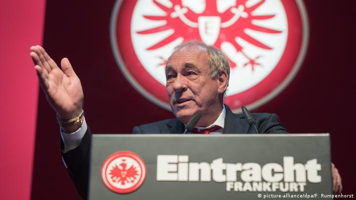 El presidente del Eintracht Frankfurt, Peter Fischer.