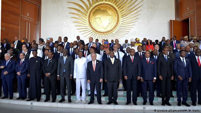 Staats- und Regierungschefs der Afrikanischen Union bei einem Gipfel 2018