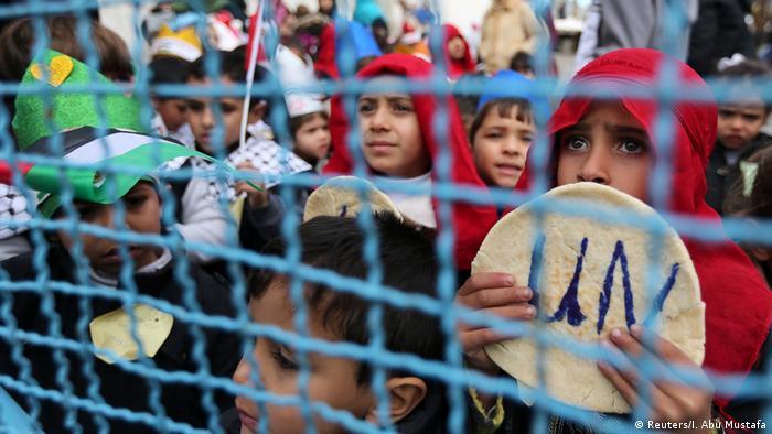 Gazastreifen UNRWA Protest Versorgung Palästinenser