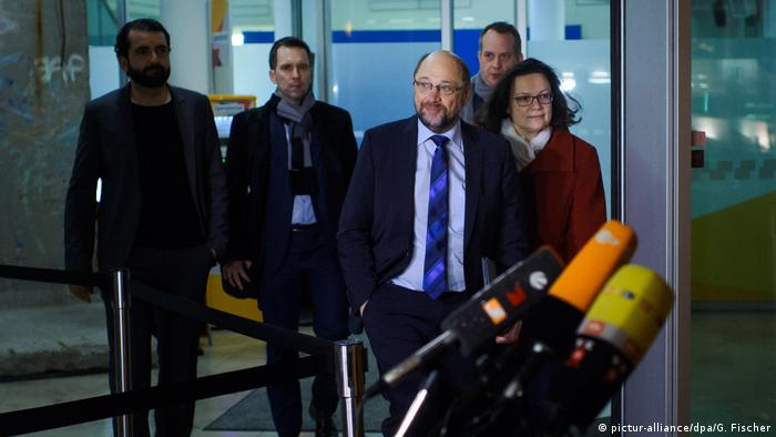 SPD leaders Martin Schulz and Andrea Nahles
