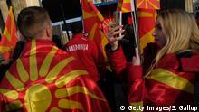 Deutschland Protest von Mazedonier in Berlin