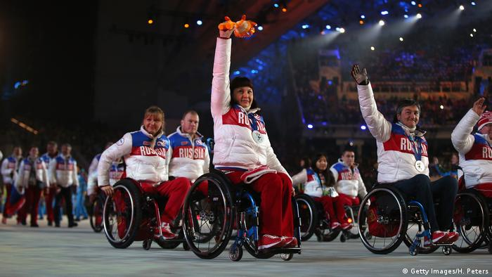 Russland Winter Paralympics 2014 russisches Team (Getty Images/H. Peters)