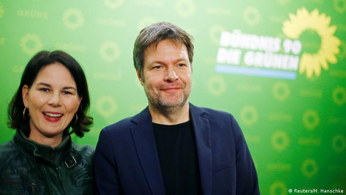Green party co-leaders Annalena Baerbock and Robert Habeck