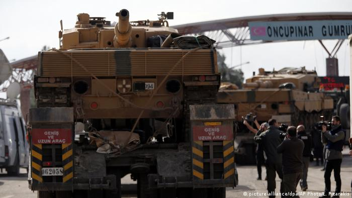 Turkish tank in northern Syria
