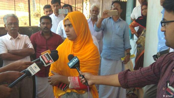 Indien Erste weibliche Imanin Jamida in Kerala (privat)