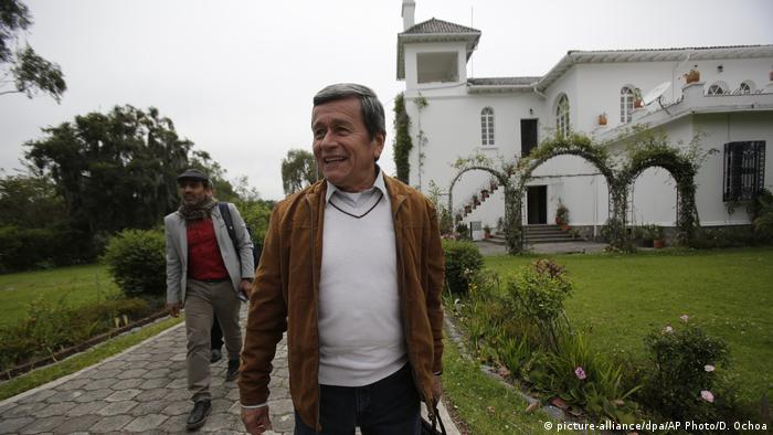 Der ELN-Vertreter Pablo Beltran im Januar nach Gesprächen in Quito