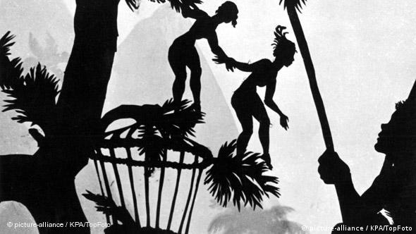 A scene from the 1935 film 'Papageno' by Lotte Reiniger