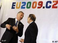 یک هفته پیش از کنفرانس برلین، کنفرانسی دیگر برای بررسی پیشرفت کار خط لوله گاز جنوبی در پراگ تشکیل شد. خاویرسولانا مسئول سیاست خارجی اتحادیه اروپا و نخست وزیر جمهوری چک در این کنفرانس حضور داشتند