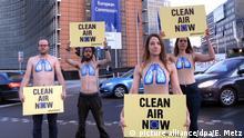 EU-Kommission Luftverschmutzung Demo Greenpeace