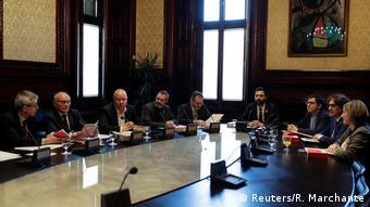 Roger Torrent, presidente del Parlamento catalán, en una reunión parlamentaria.