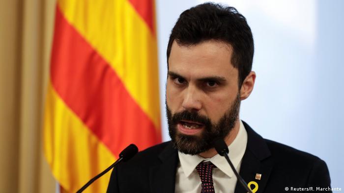 Spanien Katalonien Roger Torrent Statement in Barcelona