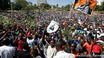 Kenia Nairobi Großdemonstration der Opposition