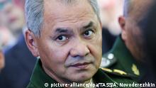 Russland Verteidigungsminister Sergej Schoigu