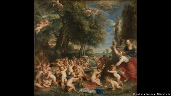 Rubens' The Worship of Venus modeled after an original work by Titian (Nationalmuseum, Stockholm)