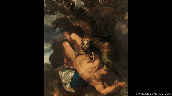 Painting by Peter Paul Rubens Prometheus shows an eagle eating the liver of the titan (Foto: Philadelphia Museum of Art)