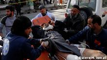 Verletzte nach Anschlag in Kabul Afghanistan