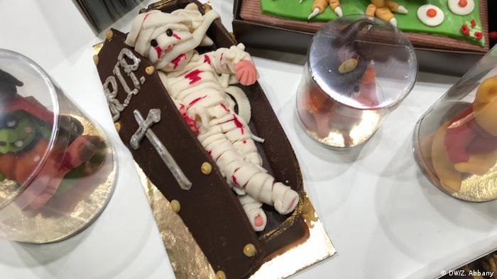 A mummy made of marzipan