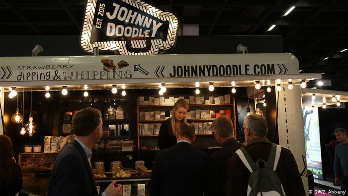 Johnny Doodle stand at the International Sweet Fair in Cologne