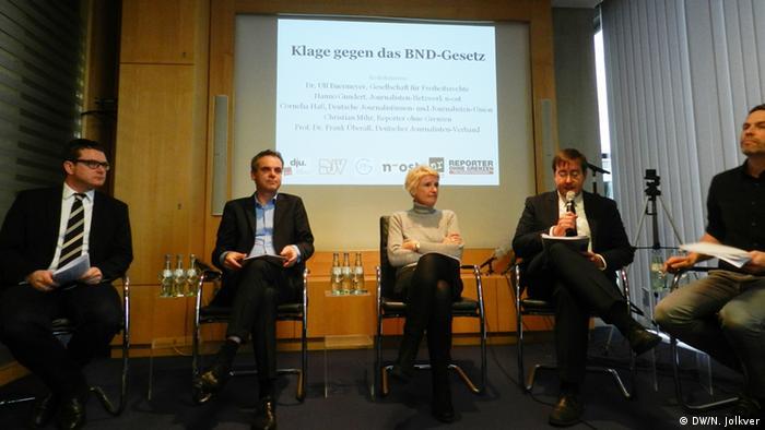 PK Reporter ohne Grenzen zu BND-Gesetz (DW/N. Jolkver)