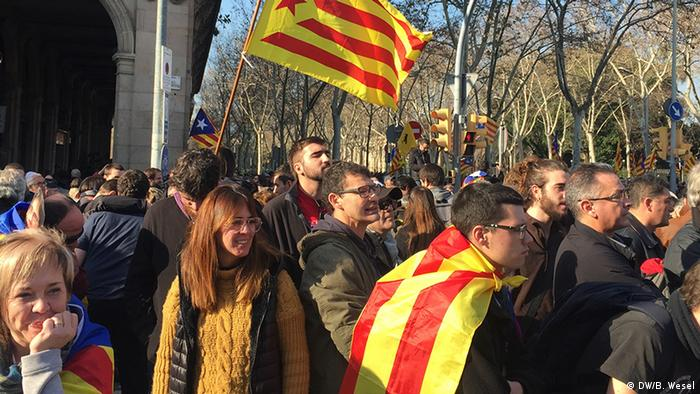 Spanien Barcelona Demonstration