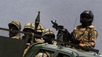 Pakistani troops on patrol