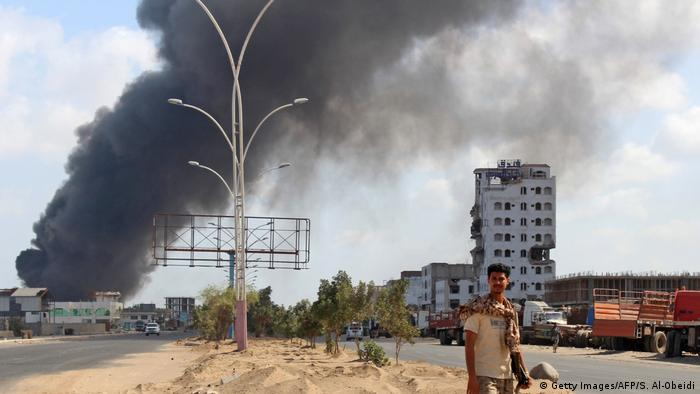 Yemen separtists in Aden
