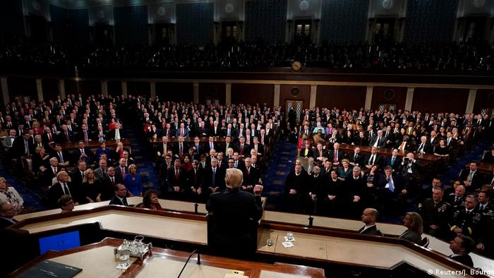 President Trump addresses Congress in his first State of the Union (Reuters/J. Bourg)