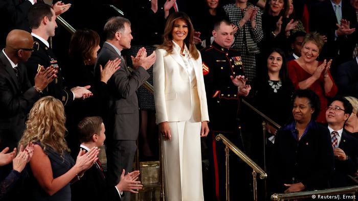 USA Melania Trump bei der Rede zur Lage der Nation