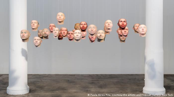 DNA face from the exhibition Probably Chelsea (Paula Abreu Pita, courtesy the artists and Fridman Gallery, New York)
