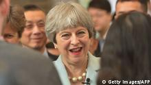 China Wuhan Besuch Theresa May