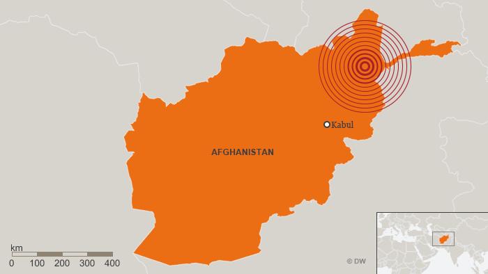 Karte Erdbeben Afghanistan 31. Januar 2018 DEU ENG