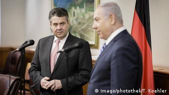 Sigmar Gabriel and Benjamin Netanjahu