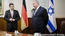 Israel Jerusalem Sigmar Gabriel trifft Benjamin Netanjahu