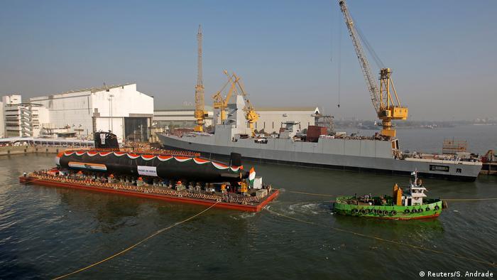 Indien Neues Militär U-Boot (Reuters/S. Andrade)