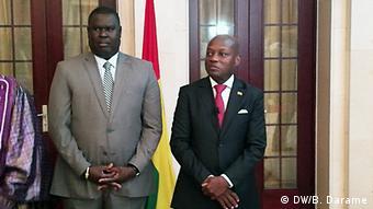 Artur Silva neuer Premierminster von Guinea-Bissau mit Präsident Jose Mario Vaz (DW/B. Darame)