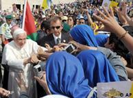 پیشباز راهبههای کلیسای صلح شهر امان از پاپ