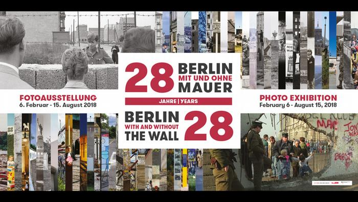 A poster for the Berlin With and Without the Wall exhibition