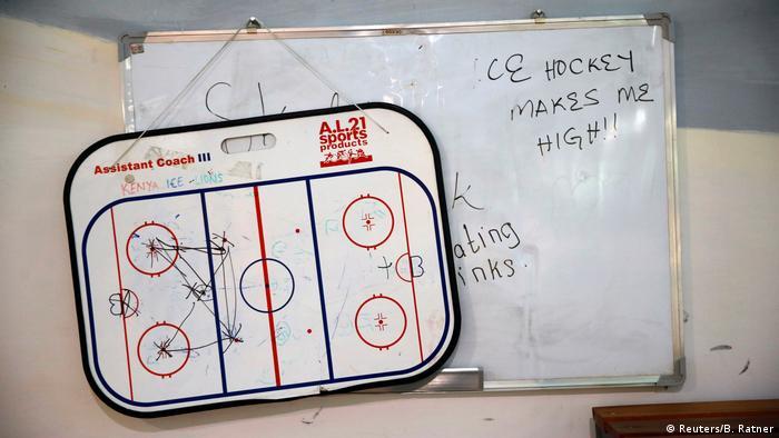 Доска тренера хоккейной команды