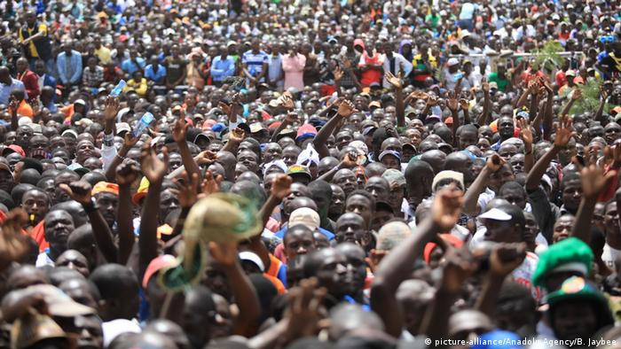 Kenia symbolische Vereidigung Raila Odinga